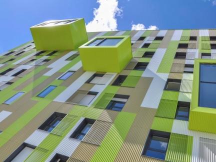 CG architectes, résidence étudiante, Villejean, Rennes