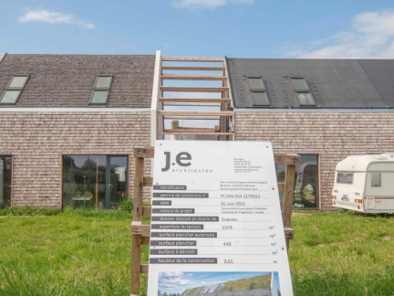 J+E architectes, chantier, habitat groupé, Erdeven