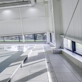 photographe d'architecture ©INTERVALphoto : LAB, extension piscine Grand Champ (56)