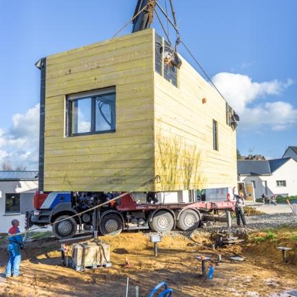 blockwood chantier maison individuelle retiers 35 interval photo. Black Bedroom Furniture Sets. Home Design Ideas