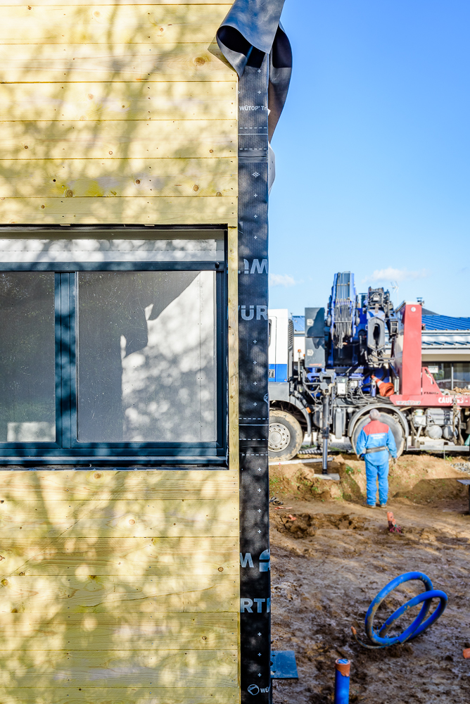 Blockwood chantier maison individuelle retiers 35 - Acces chantier maison individuelle ...