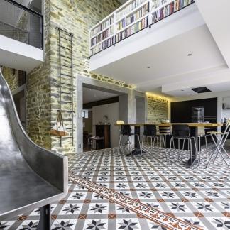 ©INTERVALphoto photographe d'architecture : Mickaël TANGUY architecte, maison Toboggan, à vivre