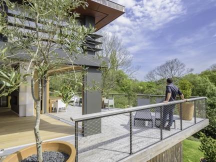 GRIGNOU & STEPHAN architectes, maison dans la pente, Combrit (29)