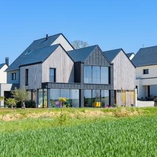 ©INTERVALphoto photographe d'architecture : Mickaël TANGUY architecte, maison Melesse