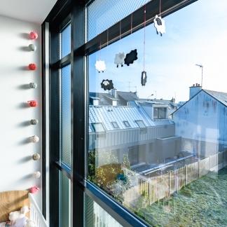 photographe d'architecture ©INTERVALphoto : Bodenez et Le Gal La Salle architectes, maison individuelle, Rennes