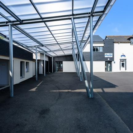 photographe d'architecture ©INTERVALphoto : Couasnon Launay architectes, école Saint Martin, La Mézières, 35