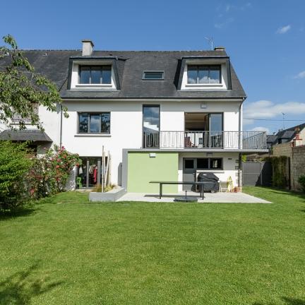 photographe d'architecture ©INTERVALphoto : Briand Renault architectes, réhabilitation, maison individuelle, L, Rennes, 35