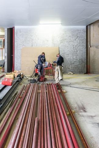 Couasnon Launay architectes, chantier, Galerie Lafayette,  Rennes, 35
