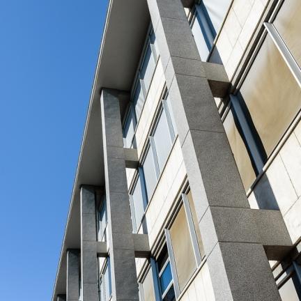 photographe d'architecture ©INTERVALphoto : PPaul Bouet Architecte, restructuration La Poste Mail Mitterrand, Rennes, 35