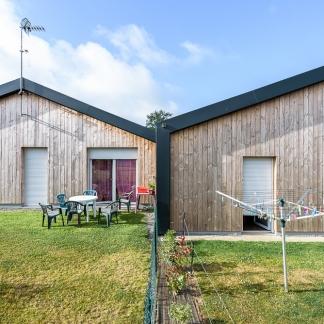 photographe d'architecture ©INTERVALphoto : Jaouen Raimbault Architectes, logements Dompierre du Chemin, 35.