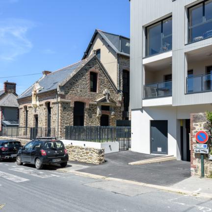 photographe d'architecture ©INTERVALphoto : Bachmann associés architectes, groupe Authenticity, logements collectifs, St Malo (35)