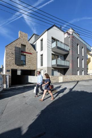 Bachmann associés architectes, Promo Ouest, PEROBA, logements collectifs Roc'Eden, Saint Malo (35)